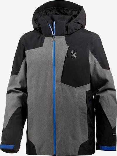SPYDER Skijacke 'Chambers' in blau / grau / schwarz, Produktansicht