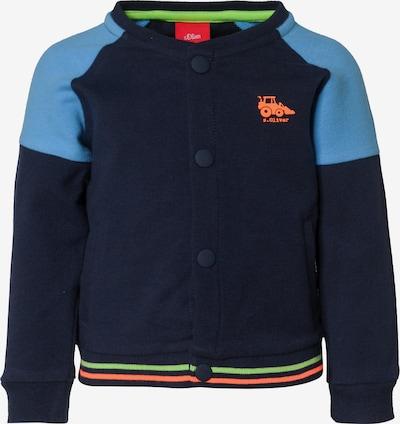 s.Oliver Junior Sweatjacke in blau / mischfarben, Produktansicht