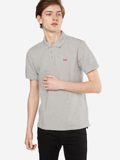 LEVI'S Poloshirt 'HOUSEMARK' in graumeliert: Frontalansicht