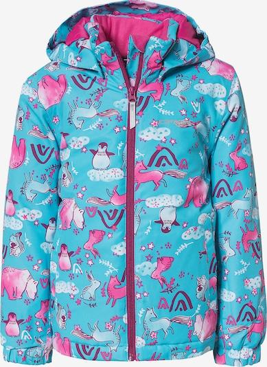 ICEPEAK Skijacke 'JAPEN' in türkis / pink, Produktansicht