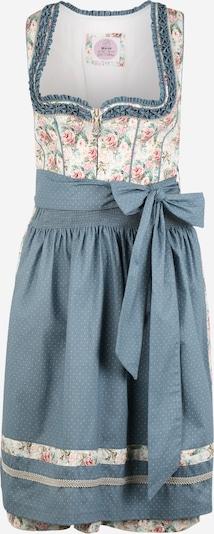MARJO Kleid in creme / blau / hellrot, Produktansicht