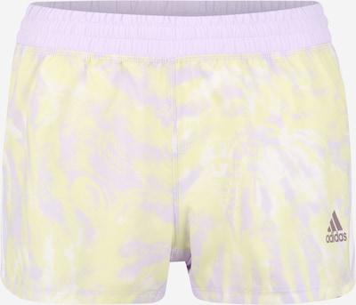 ADIDAS PERFORMANCE Shorts in pastellgelb / pastelllila / weiß, Produktansicht