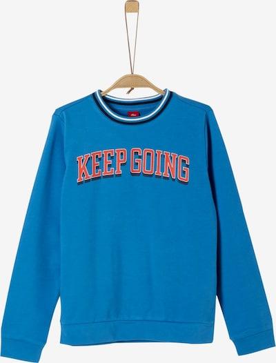 s.Oliver Junior Sweatshirt in himmelblau / hummer / schwarz: Frontalansicht