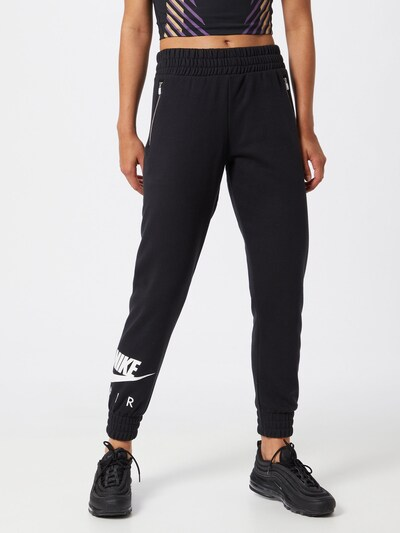Nike Sportswear Kalhoty 'AIR' - černá / bílá, Model/ka