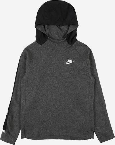 Nike Sportswear Sweatshirt in de kleur Grijs gemêleerd / Zwart / Wit, Productweergave