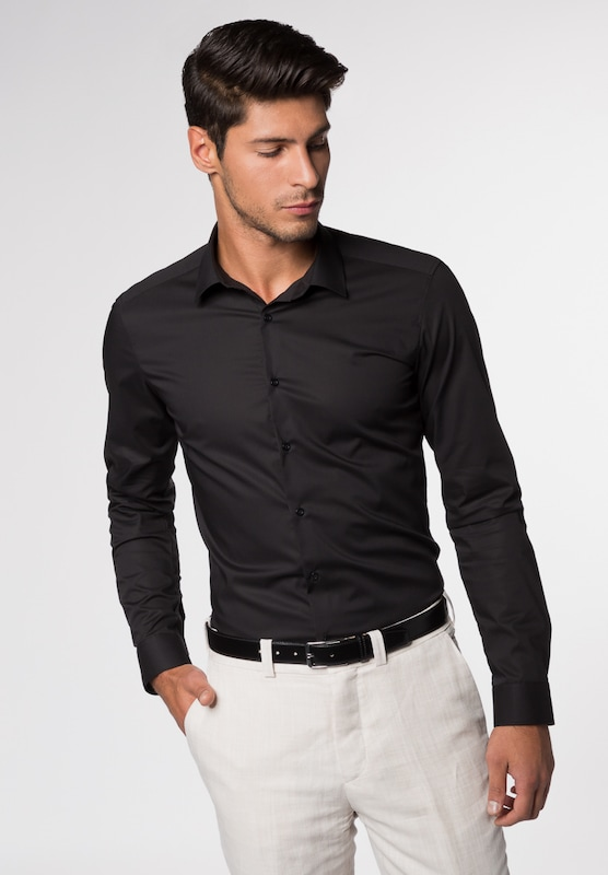 Eterna Long Sleeve Shirt Super-slim