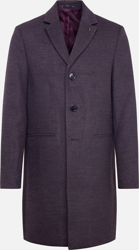BURTON MENSWEAR LONDON Mantel 'charcoal faux crombie mid' in grau, Produktansicht