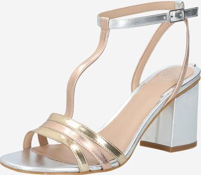 GUESS Sandalen 'Maise2' in gold / pink / silber / weiß, Produktansicht