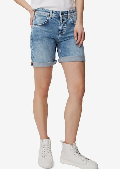 Marc O'Polo Shorts 'Theda' in blue denim, Modelansicht