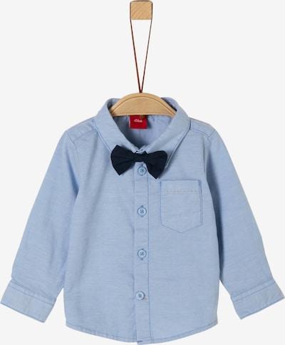 s.Oliver Junior Hemd in rauchblau / schwarz, Produktansicht