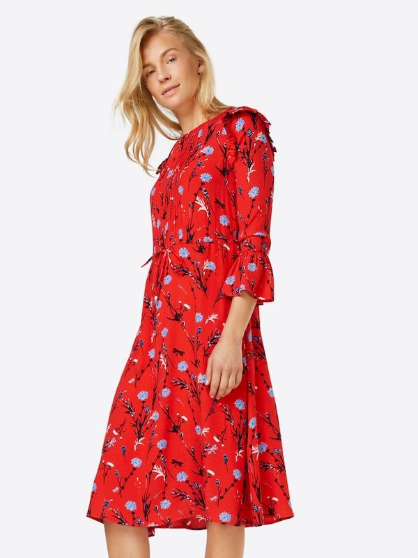 tom tailor denim kleider 39 floral printed dress 39 in rot. Black Bedroom Furniture Sets. Home Design Ideas