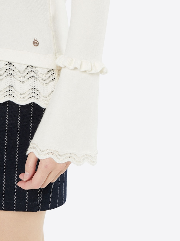 Cream Bluse 'Matlin'