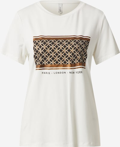 Soyaconcept Shirt 'MARICA' in braun / schwarz / offwhite, Produktansicht
