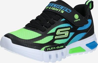 SKECHERS Sneaker 'FLEX-GLOW DEZLO' in blau / grün / schwarz, Produktansicht