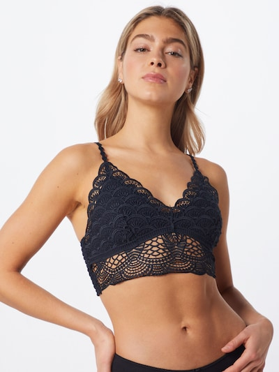 Free People BH 'SUNRISE TO SUNSET' in schwarz: Frontalansicht