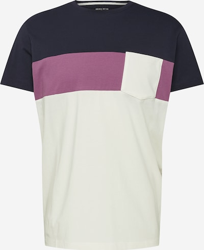 EDC BY ESPRIT Koszulka w kolorze ciemny niebieski / fioletowy / offwhitem: Widok z przodu