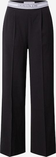 Calvin Klein Jeans Nohavice s pukmi - čierna / biela, Produkt