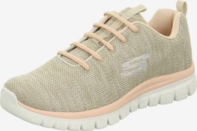 SKECHERS Sneaker in beigemeliert / apricot: Frontalansicht
