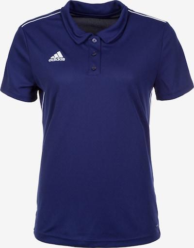 ADIDAS PERFORMANCE Poloshirt 'Core 18' in saphir / weiß, Produktansicht