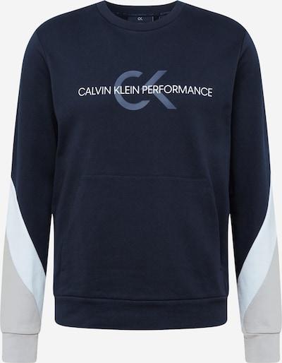 Calvin Klein Performance Bluzka sportowa w kolorze szarobeżowy / podpalany niebieski / czarny / białym, Podgląd produktu