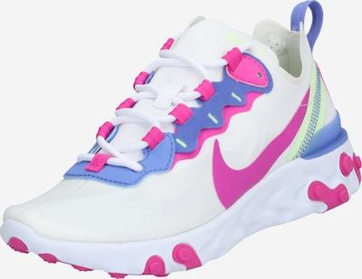 Sportbačiai be auliuko 'React Element 55' iš Nike Sportswear , spalva - purpurinė / rožinė / balta, Prekių apžvalga