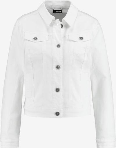 TAIFUN Jacke Jeans + Gewebe Jeansjacke in weiß, Produktansicht