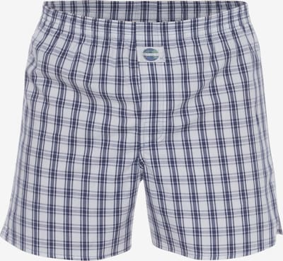 D.E.A.L International Boxers 'Check' en bleu foncé / blanc naturel: Vue de face