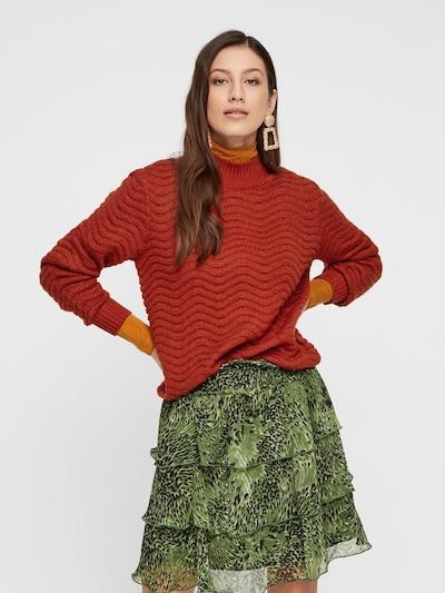 Y.A.S Pullover  'Brentrice' in rostrot, Modelansicht