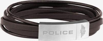 POLICE Armband 'Gozo, PJ26345BLSC.02-L' in schoko / silber, Produktansicht