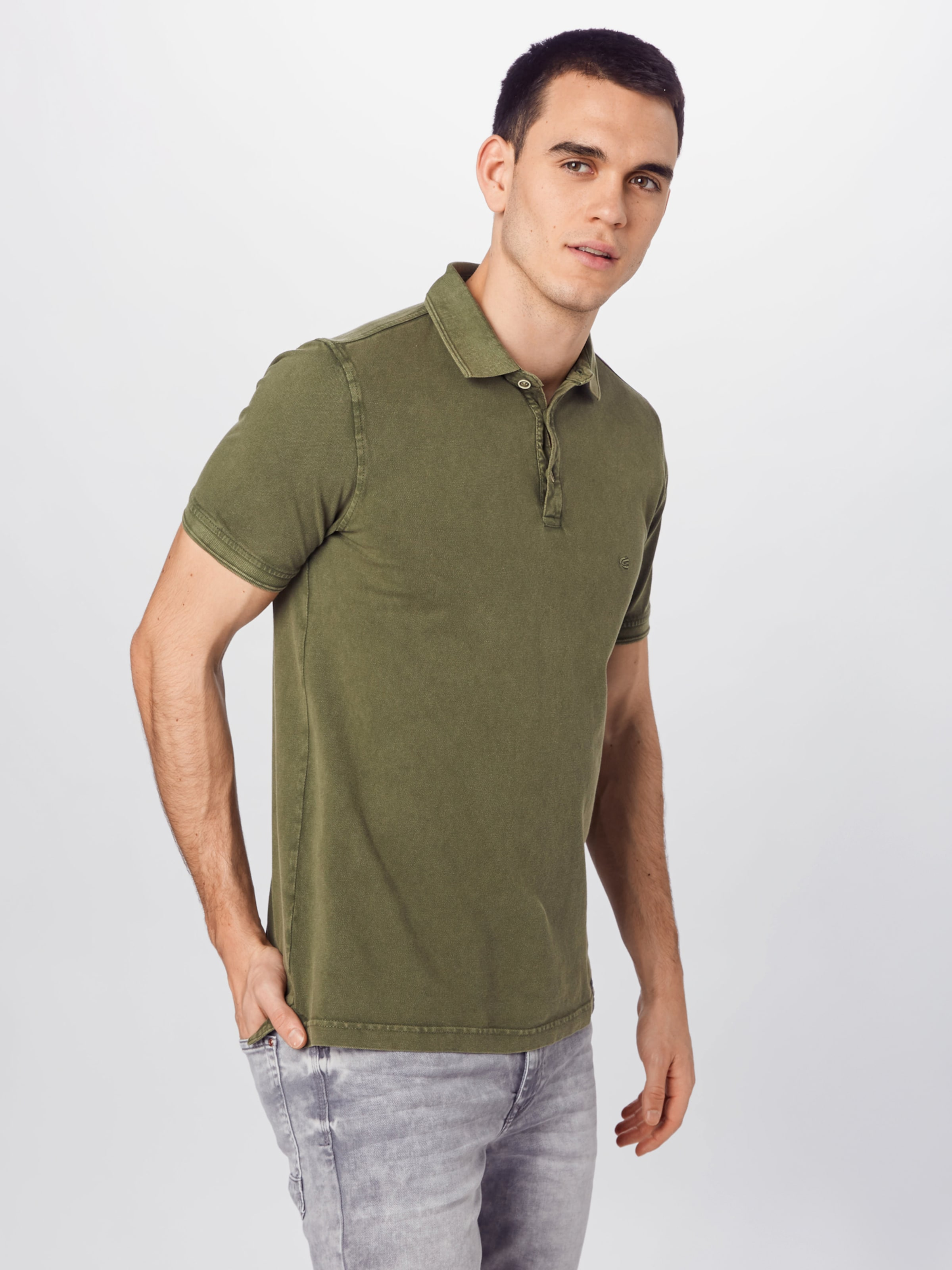 CAMEL ACTIVE Poloshirt in oliv Unifarben 948640448