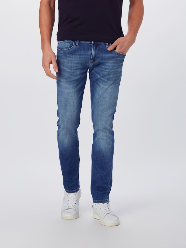 Pepe Jeans Jeans 'Hatch' in blue denim: Frontalansicht