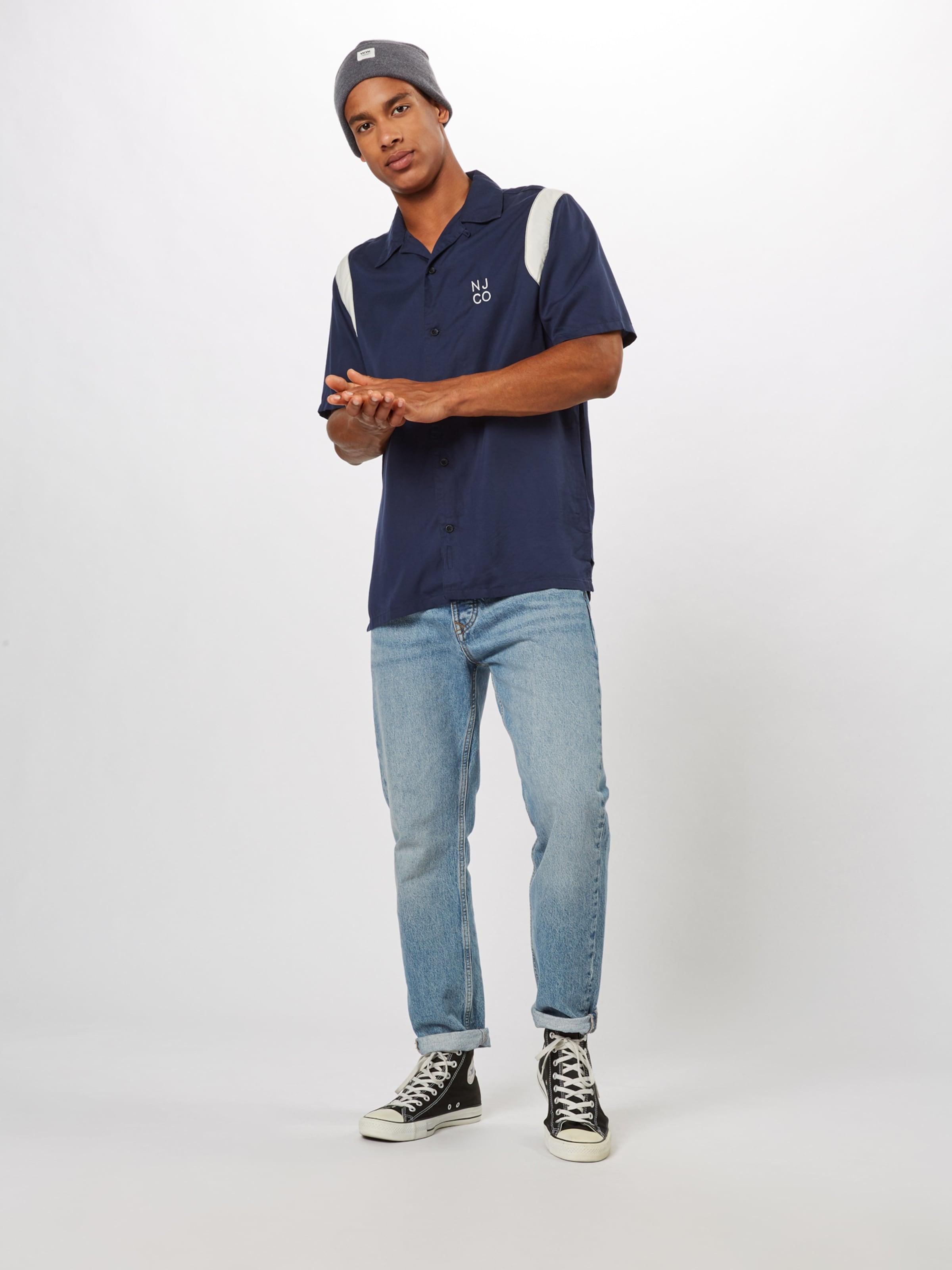 Chemise NuitBlanc Naturel Nudie Jeans Bowling' Co 'jack Bleu En oCxBWder