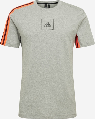 ADIDAS PERFORMANCE Functioneel shirt 'M 3S Tape' in de kleur Grijs gemêleerd / Sinaasappel, Productweergave