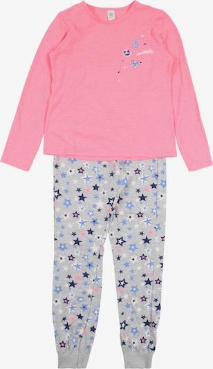 SANETTA Pyjama in grau / pink, Produktansicht