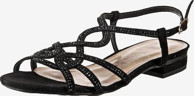 JANE KLAIN Riemchensandalen in schwarz, Produktansicht