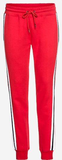Pantaloni '3-Tone Side Strip Terry Pants' Urban Classics pe navy / roși aprins / alb, Vizualizare produs