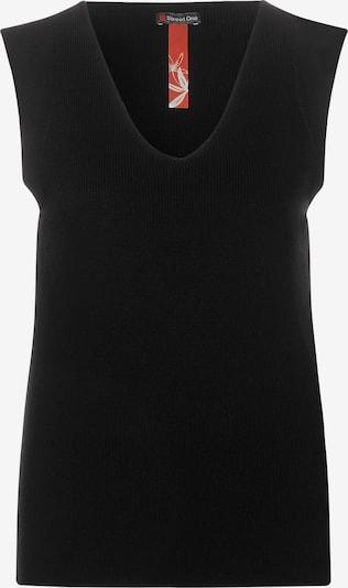 STREET ONE Feinstrick-Top in Unifarbe in schwarz, Produktansicht