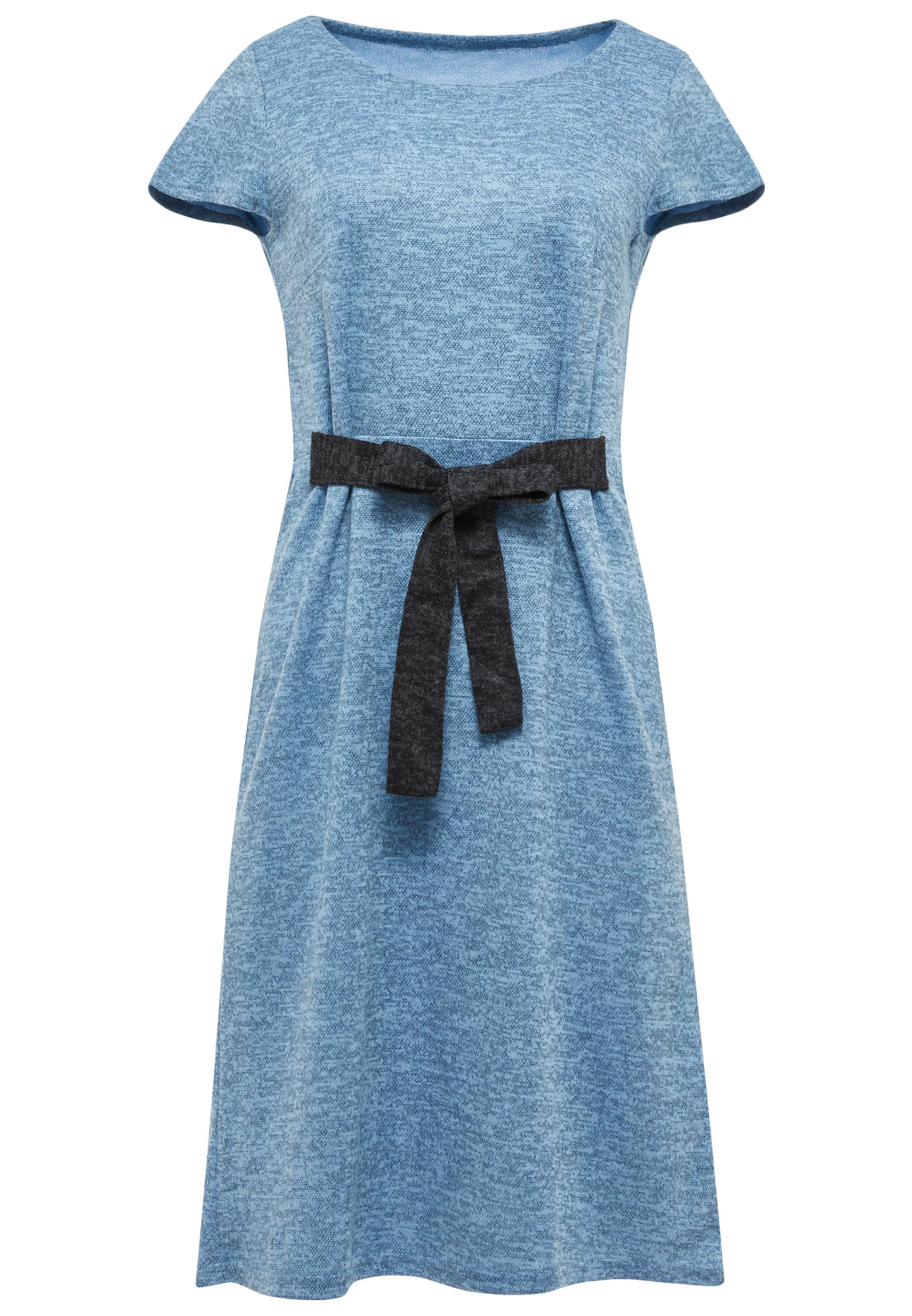 Usha En D'été FuméNoir Robe Bleu 0w8mNnOv