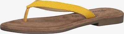 Šlepetės per pirštą iš TAMARIS , spalva - geltona, Prekių apžvalga