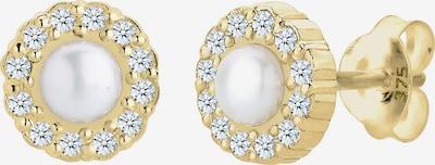 ELLI PREMIUM Ohrringe in goldgelb / weiß, Produktansicht