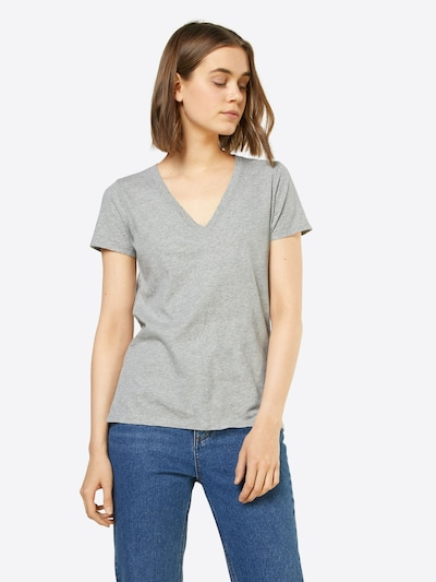 GAP T-Shirt 'VINT RIB' in graumeliert: Frontalansicht