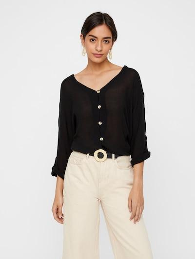 PIECES Bluse 'PCSANNE' in schwarz, Modelansicht