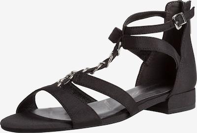 TAMARIS Sandale in silbergrau / schwarz, Produktansicht