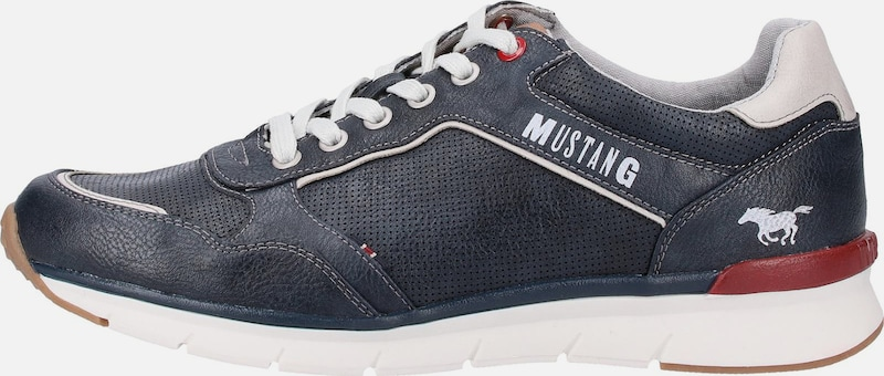 Sneakers Laag Wit Mustang In NavyRood UVqSzMpLG