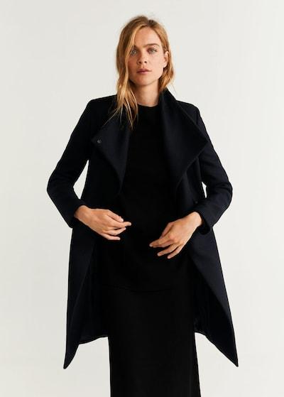 MANGO Mantel 'Venus5' in schwarz, Modelansicht