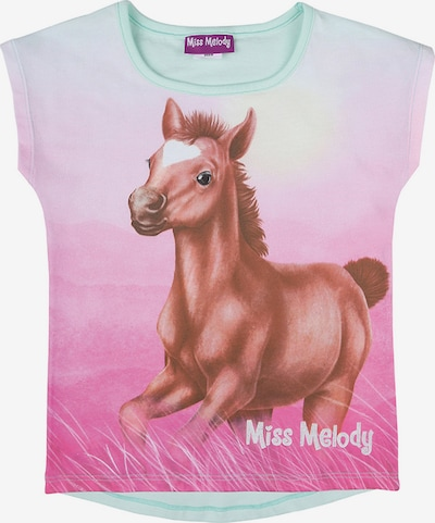 Miss Melody T-Shirt in pastellgrün / pink, Produktansicht