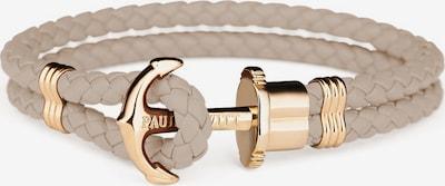 Paul Hewitt Armband in hellbeige / rosegold: Frontalansicht