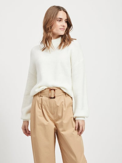 OBJECT Pullover in creme, Modelansicht