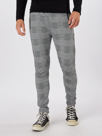 Kelnės iš Denim Project , spalva - pilka / balta, Modelio vaizdas