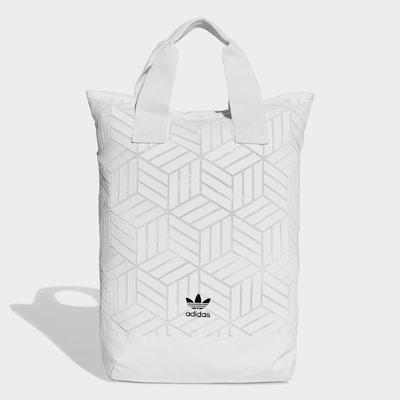 ADIDAS ORIGINALS Rucksack '3D' in weiß, Produktansicht